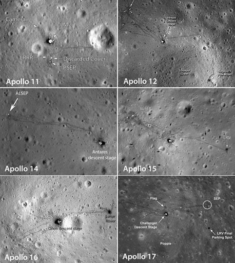 Apollo landing sites: They're all still there!