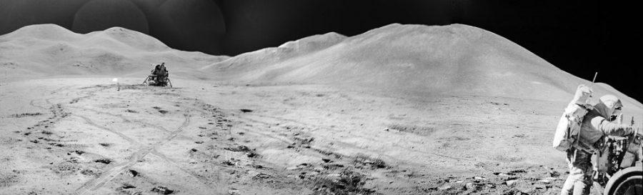 Apollo 15 and lunar mountains