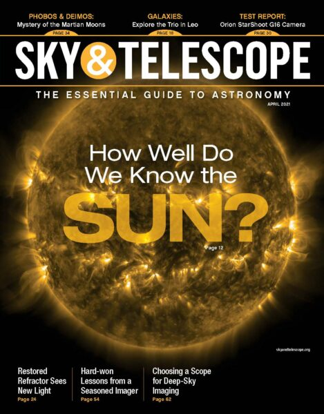 The cover of the April 2021 issue.