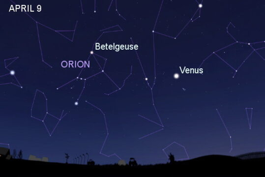 Orion on April 9th