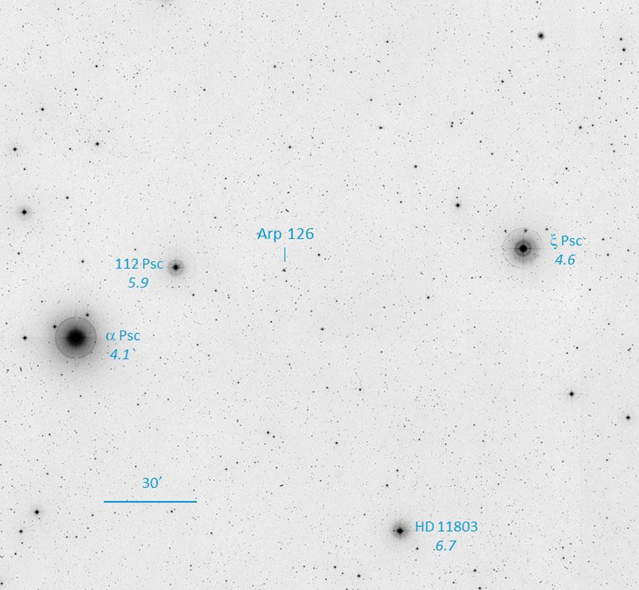 Finder for Arp 126