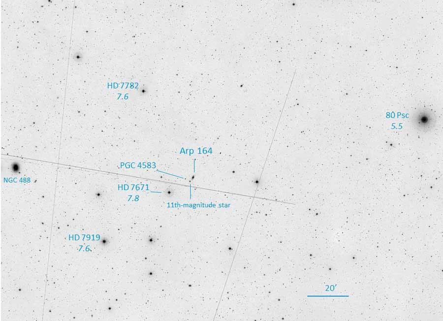 Finder for Arp 164