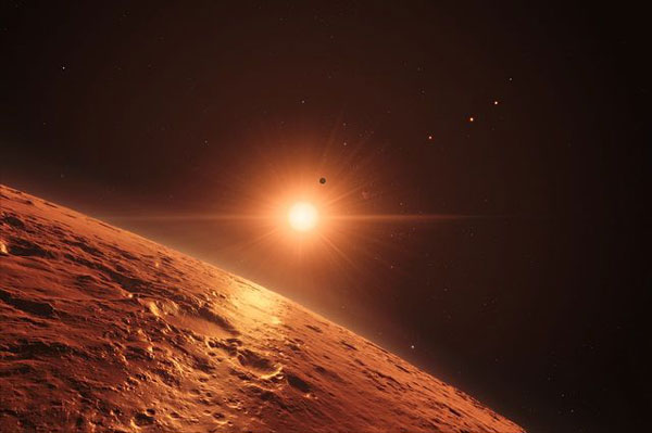 TRAPPIST-1 planet (art)