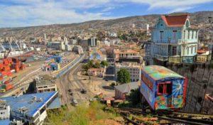 """Funicular"" rail car in Valparaiso"