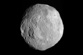 Vesta as seen by Dawn on July 9, 2011