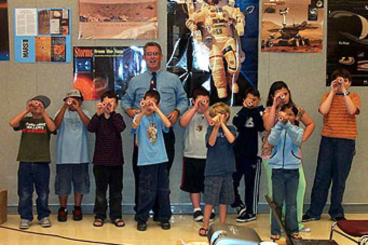 Kids at Astronomy Day 2008