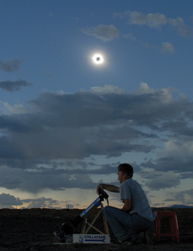 Total solar eclipse over China