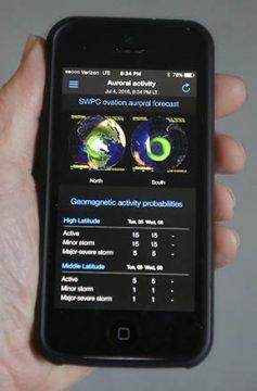 Aurora Activity By Phone