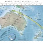 Start time of Australian total solar eclipse