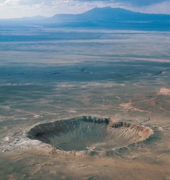 Barringer crater in Arizona