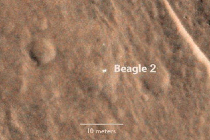 Beagle 2 seen from orbit by HiRISE