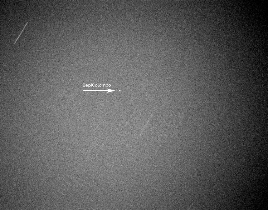 BepiColombo as seen from Earth