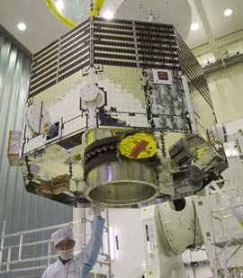 BepiColombo  undBepiColombo's MMO arrives at ESTECer construction