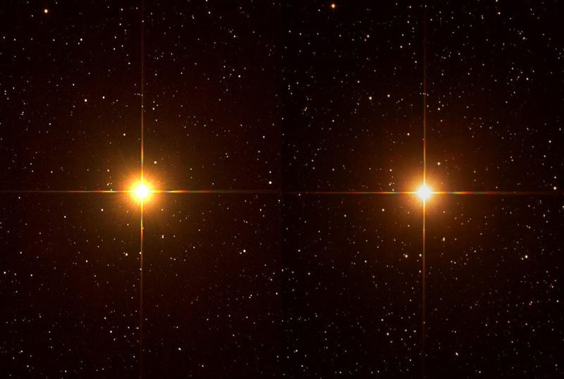 Betelgeuse, then and now
