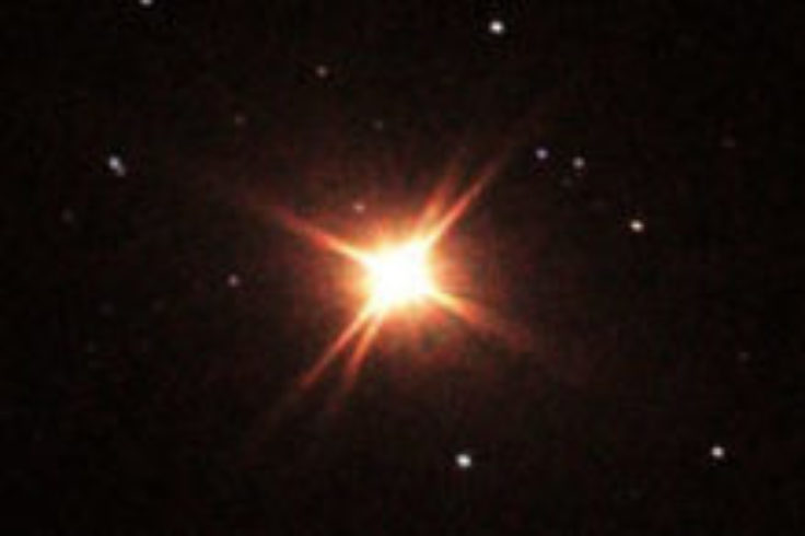 Betelgeuse telescopic view