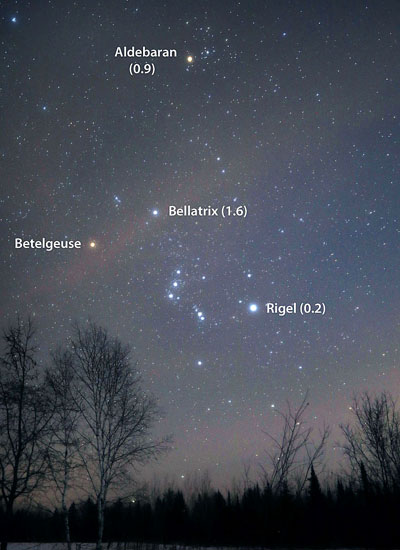 Betelgeuse comparison stars
