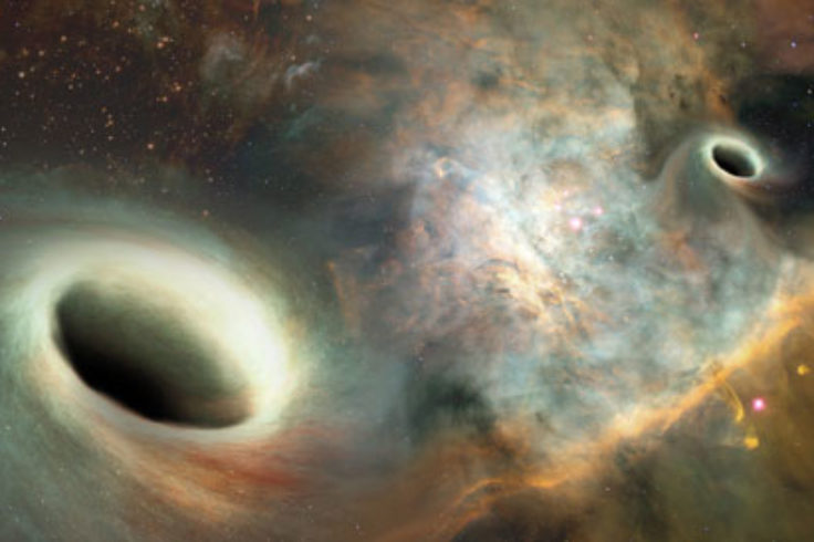 Supermassive black hole binary (art)