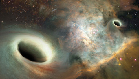 Supermassive black holes (art)
