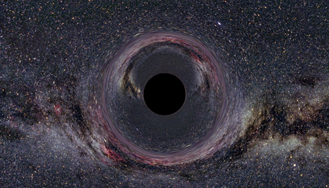 black hole lensing Milky Way
