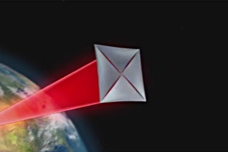 Breakthrough Starshot - screengrab of laser acceleration video