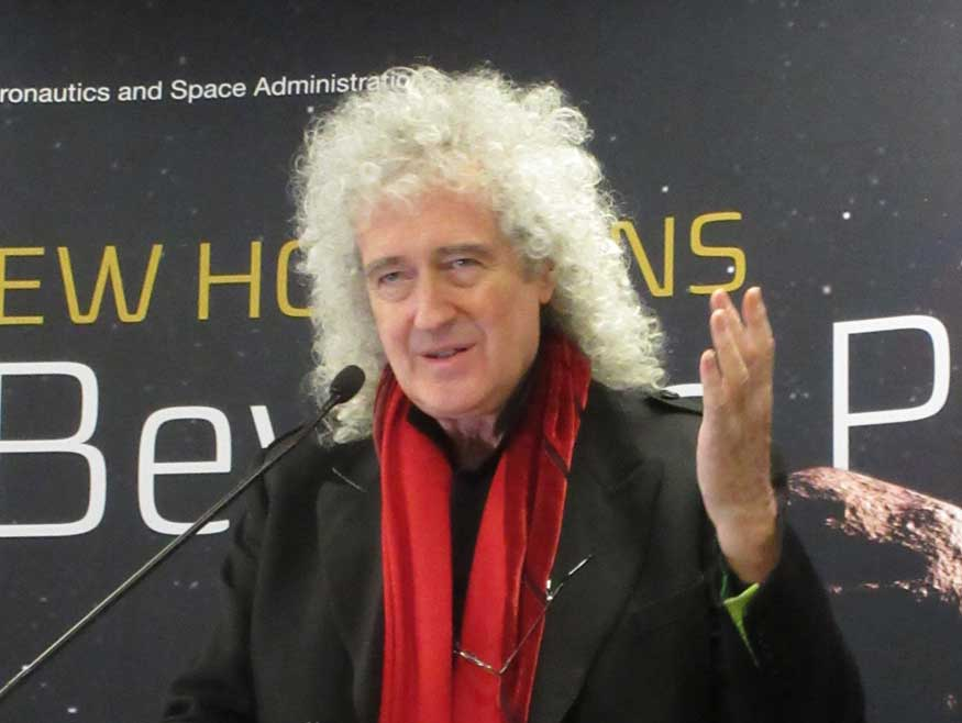 Brian May at New Horizons flyby