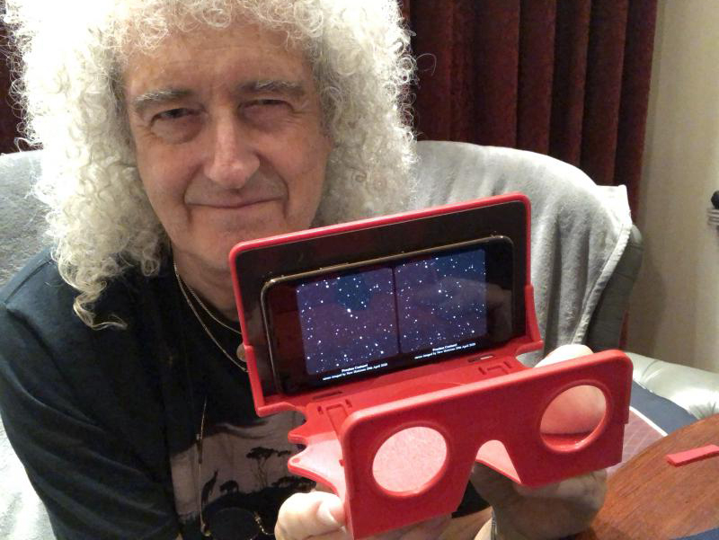 Brian May with stereo viewer