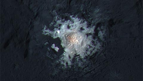 Bright dome in Occator on Ceres