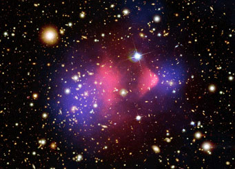 The Bullet Cluster, a merging galaxy cluster
