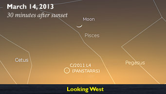 Comet Pan-STARRS in March 2013