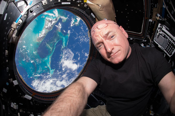 Scott Kelly aboard International Space Station