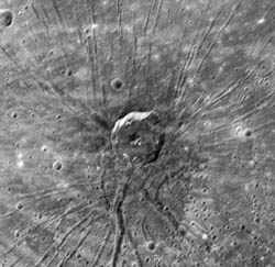 """Spider"" in Caloris basin"