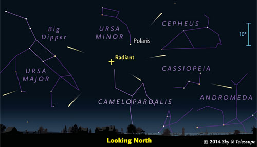 Meteor shower Saturday morning May 24, 2014