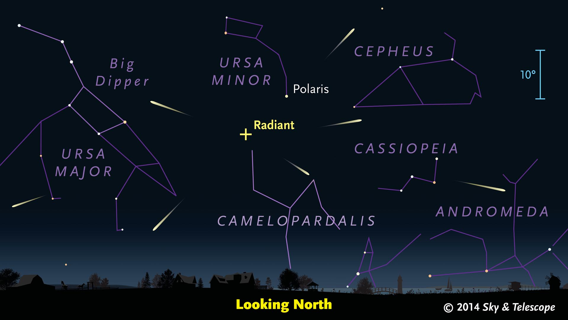 Where to see the Camelopardalid meteor shower