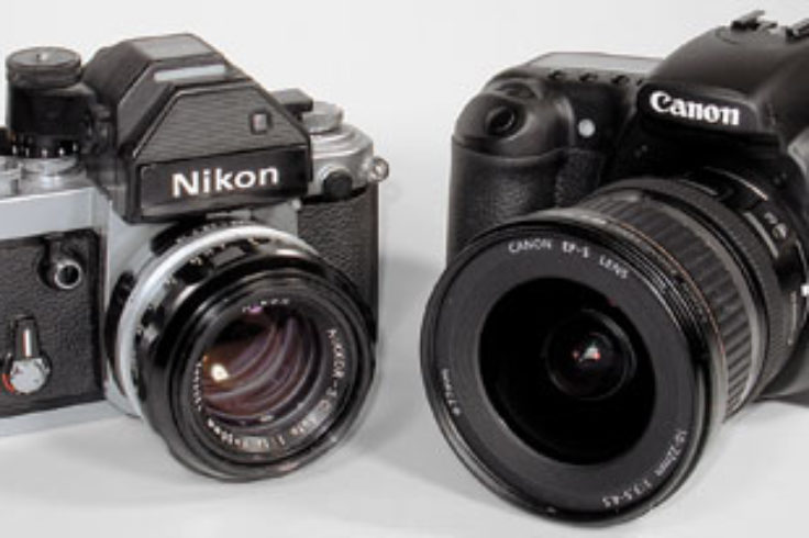 SLRs: film (left) and digital (right)