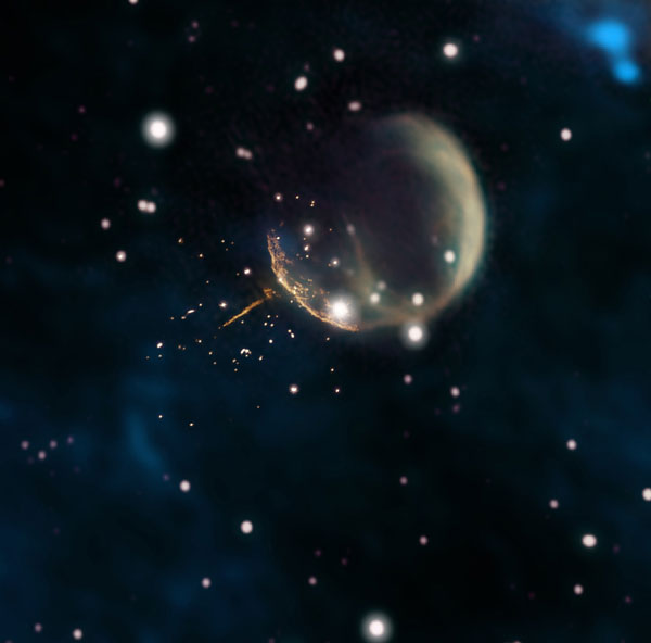 Cannonball pulsar