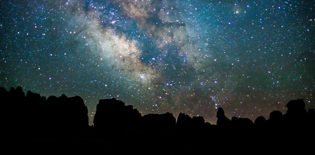Canyonlands National Park at night
