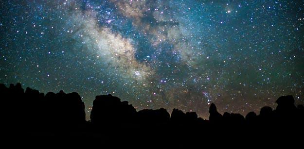Canyonlands National Park at night
