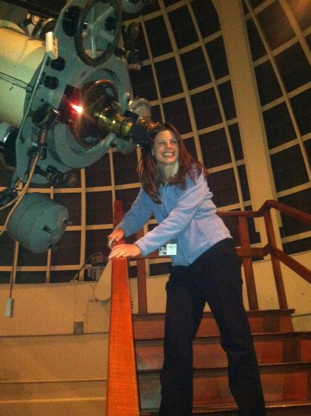 Carla Johns at 12-inch Zeiss refractor
