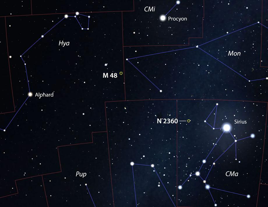 M84 and NGC 2360
