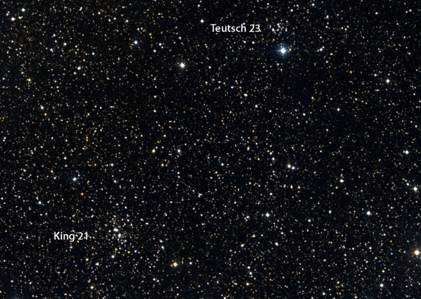 King 21 and Teutsch 23 clusters