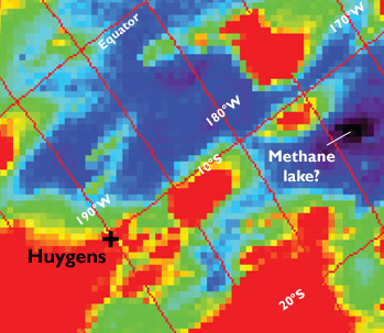 Methane lake near Titan's equator?