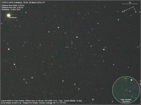 Humble Beginnings of the Catalina Comet when it first became accessible to amateur astronomers.