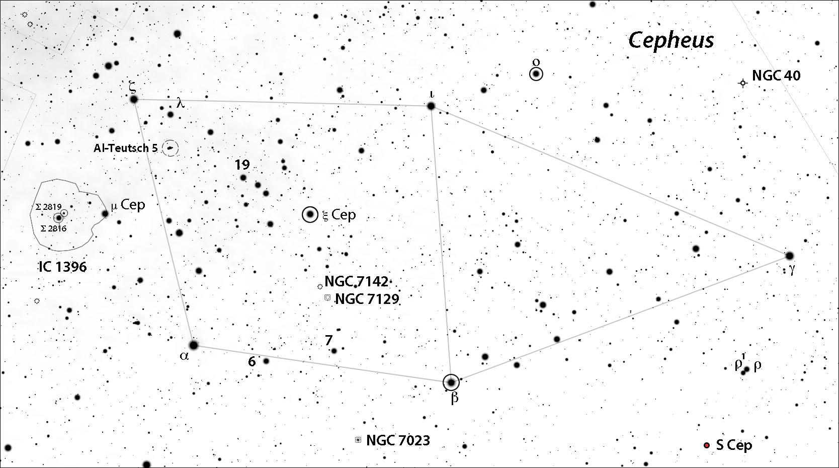 Cepheus deep-sky locator