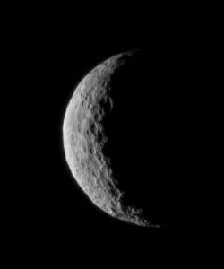Ceres seen as a crescent