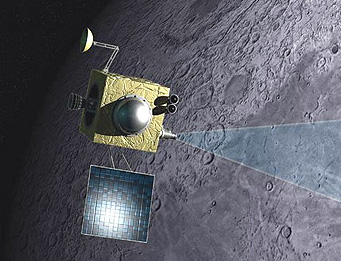 Chandrayaan 1 in orbit