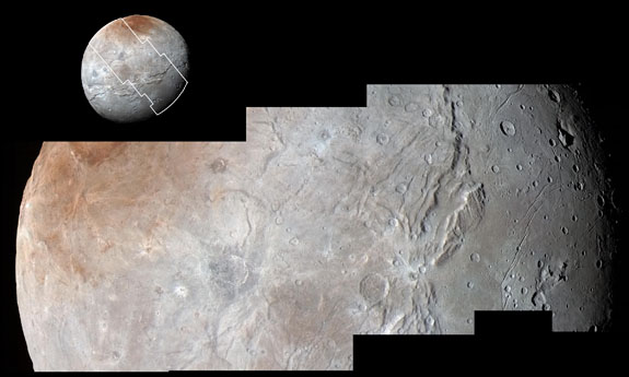 Charon's dynamic terrain