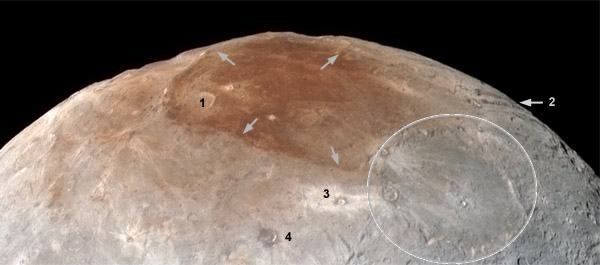 Charon north-pole details