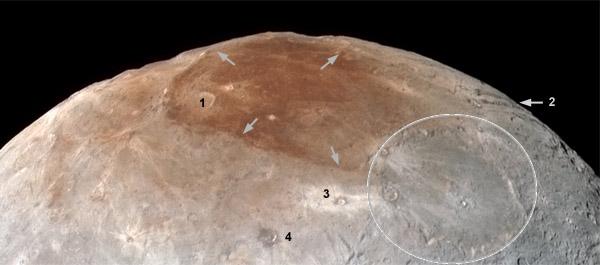 Charon north-pole details