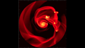 A Gravitationally Unstable Circumstellar Disk (Model)