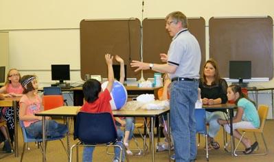 Classroom demo in Glendo